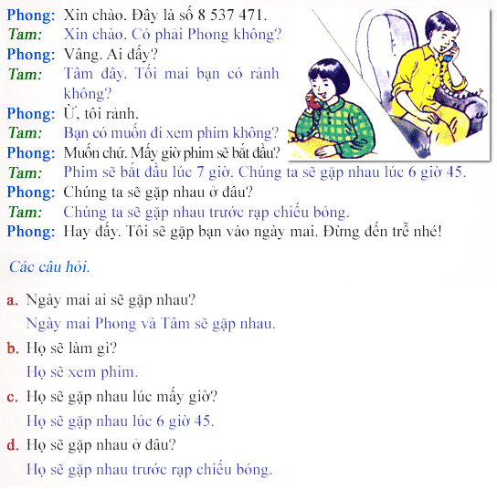 Học tiếng anh online phần 7 - Listen and Read, then answer the questions?