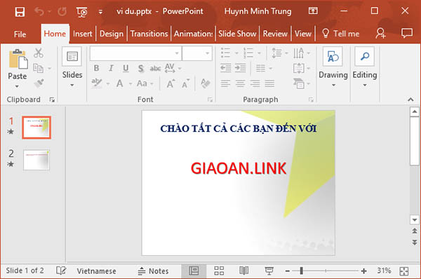 cach lam powerpoint - transition1