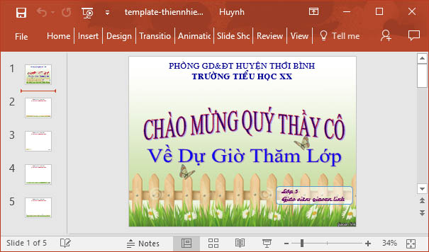 Template powerpoint thien nhien