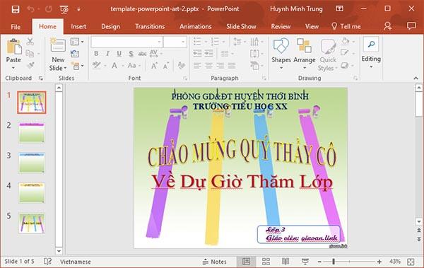 template powerpoint art 2