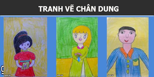 Tranh vẽ chân dung của học sinh tiểu học