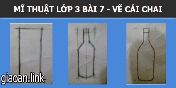 bài giảng mĩ thuật lớp 3 bài 7 vẽ theo mẫu, vẽ cái chai.