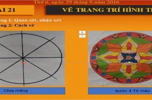 Giáo án powerpoint mĩ thuật 4 bài 21 trang trí hình tròn.