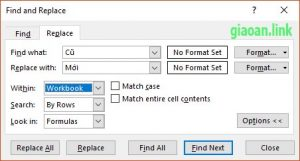 Find and replace một nội dung trên nhiều sheet excel