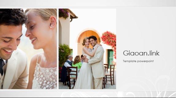 Template powerpoint album photo wedding