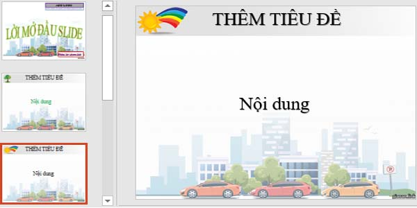 Template powerpoint giao thông 6