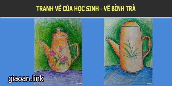 Tranh tĩnh vật vẽ cái bình trà