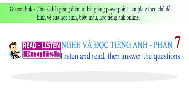 Học tiếng anh online phần 7