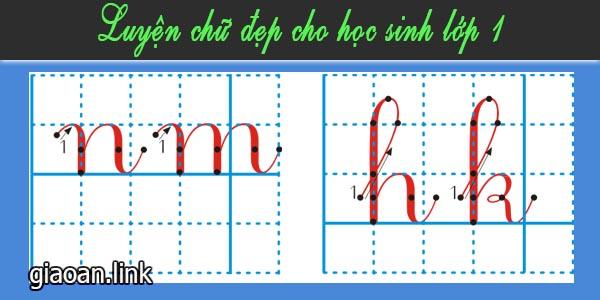 Luyện chữ đẹp cho học sinh lớp 1