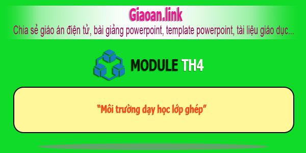 Bồi dưỡng thường xuyên module TH4