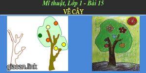 Giáo án mĩ thuật lớp 1 bài 15 vẽ cây