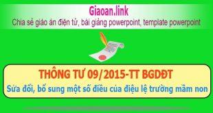 Thông tư 09/2015-tt BGDĐT
