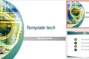template powerpoint tech v9