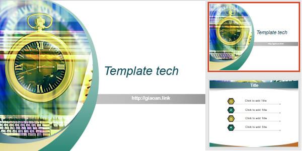 template powerpoint tech v9