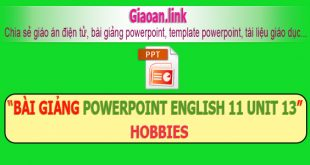 bài giảng powerpoint english 11 unit 13 hobbies
