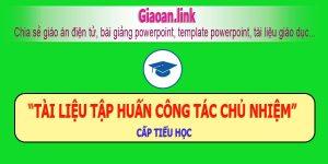 tài liệu tập huấn công tác chủ nhiệm cấp tiểu học