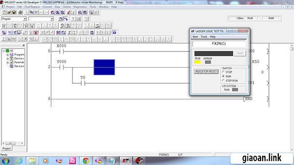 GX Simulator V7 – Chương trình mô phỏng PLC giúp bạn  thực hành đơn giản