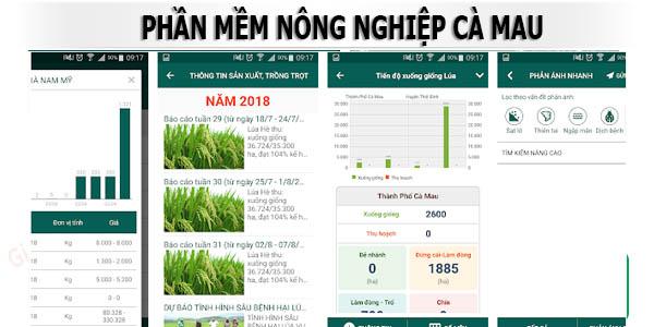 Cà Mau-Ứng dụng phần mềm ứng dụng Nông Nghiệp
