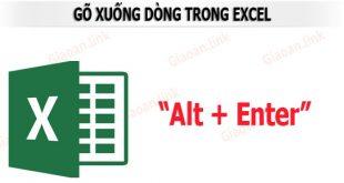 Atl + Enter để xuống dòng