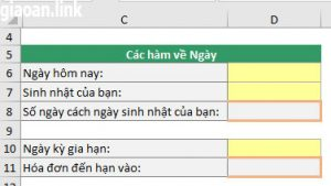 Ngày Giờ trong excel