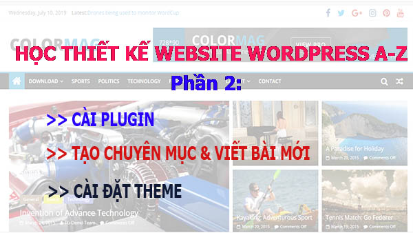 học làm website wordpress