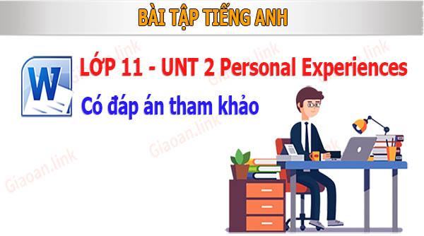Bài tập tiếng anh lớp 11 unit 2