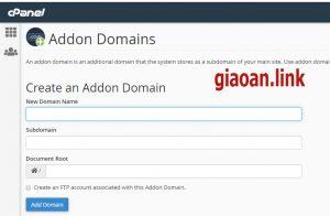 addon domain