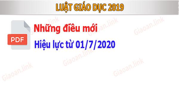 Luật giáo dục 2019