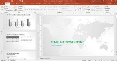 Template powerpoint bản đồ thế
