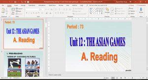 bài giảng powerpoint english 11 unit 12