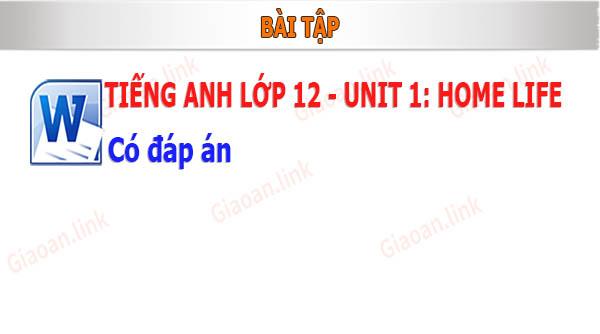 bài tập english 12