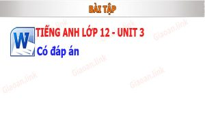Bài tập tiếng anh 12 unit 3