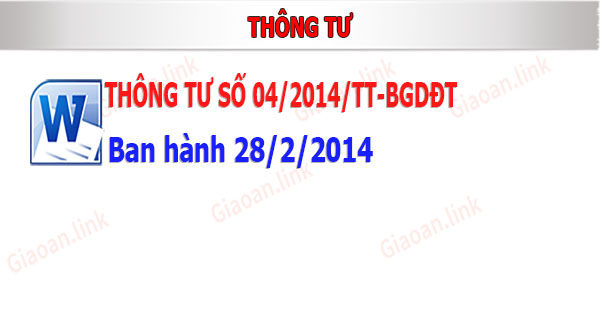 thong tu so 04-2014-bgdđt