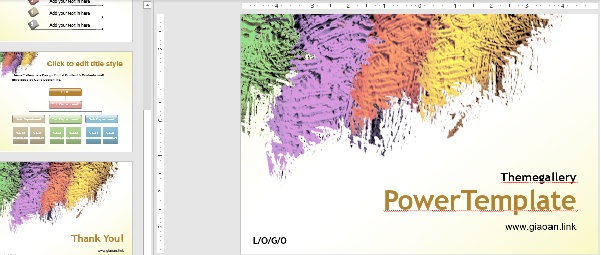 colorful tempalte powerpoint