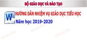 huong dan nhiem vụ giao duc tieu hoc nam hoc 2019-2020