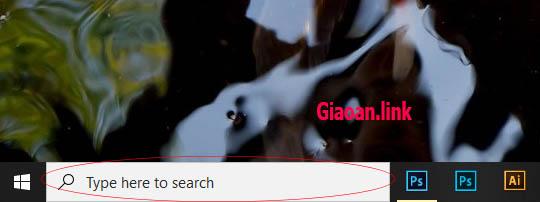 tuy chinh search box windows 10