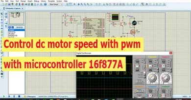 control motor dc with microcontroller 16f877A-thubm