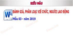 danh gia phan loai vien chuc nguoi lao dong nam 2019