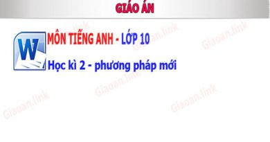giao an tieng anh lop 10 hoc ki 2 pp moi