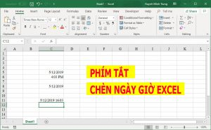 phim tat chen ngay gio trong excel