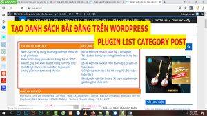 sử dụng plugin list category post tạo danh sách bài đăng trên wordpress