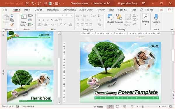 template powerpoint education v10