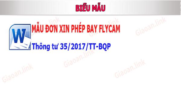 mẫu đơn xin phép bay flycam