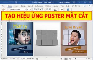 tao poster mat cat nhu harry poster