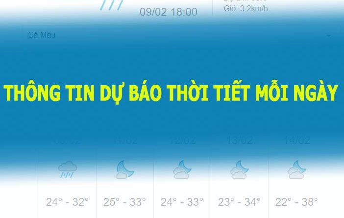 dự báo thời tiết hôm nay