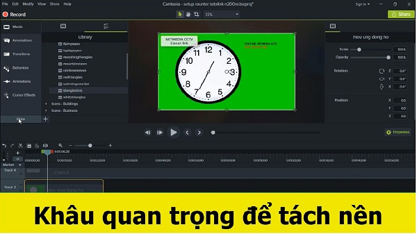 Tach nen video voi camtasia de va chat luong