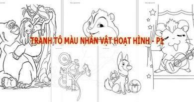 Tranh to mau nhan vat hoat hinh tong hop - phan 1