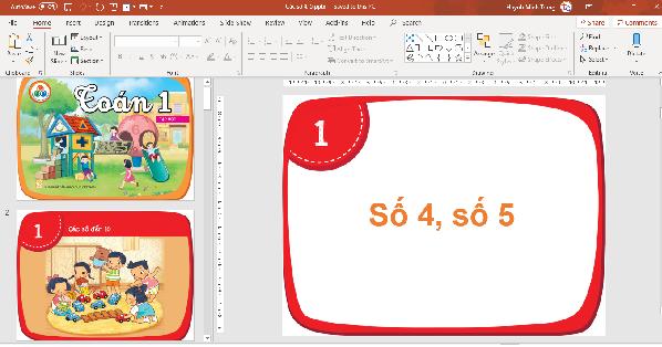 bài giảng powerpoint toán 1 sgk mới