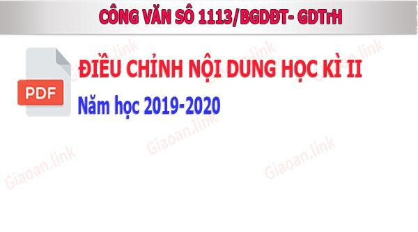 công văn số 1113-BGDĐT