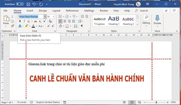 canh le chuan van ban hanh chinh
